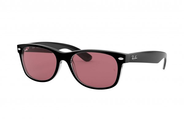 Очки Ray-Ban New Wayfarer Classic RB2132-6398-U0 Black | Violet Photocromic