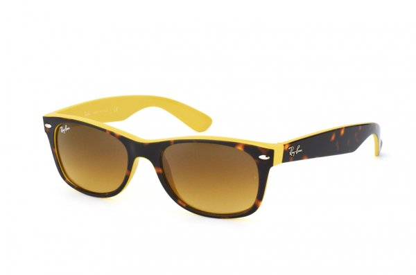 Очки Ray-Ban New Wayfarer Color Mix RB2132-6014-85 Dark Havana/Yellow | Brown Faded Yellow