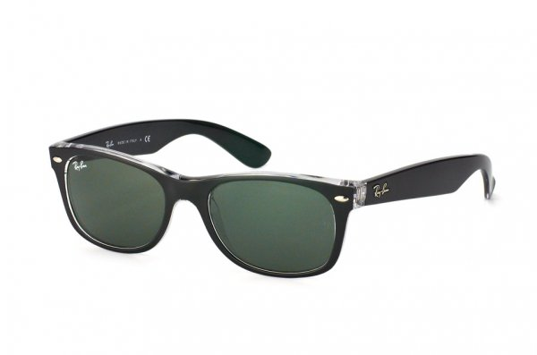 Очки Ray-Ban New Wayfarer Color Mix RB2132-6052 Matt Black On Crystal | Natural Green (G-15XLT)