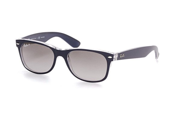 Очки Ray-Ban New Wayfarer Color Mix RB2132-6053-M3 Matt Blue On Crystal | Faded Grey Polarized