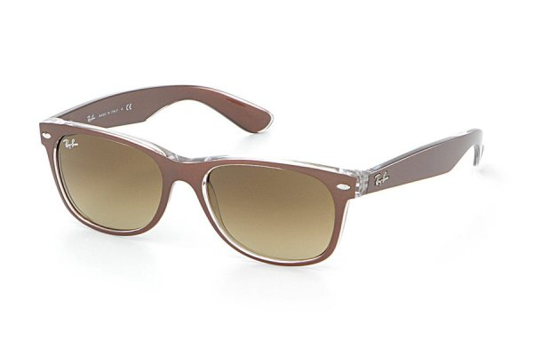 Очки Ray-Ban New Wayfarer Color Mix RB2132-6145-85 Shiny Brown  On Crystal | Brown Faded Yellow