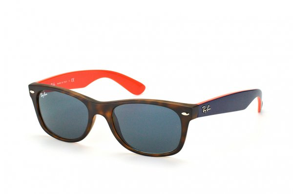 Очки Ray-Ban New Wayfarer Color Mix RB2132-6180-R5 Havana/Dark Blue/Orange | Dark Blue