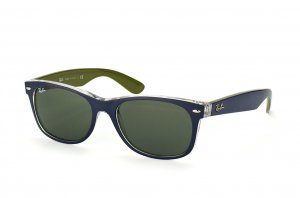 Очки Ray-Ban New Wayfarer Color Mix RB2132-6188 Matt Blue On Crystal/Green | Grey Gradient