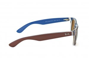 Очки Ray-Ban New Wayfarer Color Mix RB2132-6189-85 Brown On Crystal/Blue| Brown Faded Yellow
