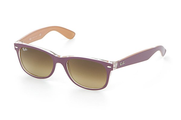 Очки Ray-Ban New Wayfarer Color Mix RB2132-6192-85 Violet On Crystal/Beige| Brown Faded Yellow