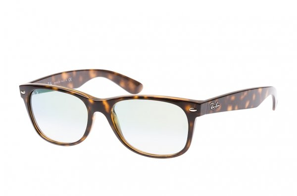 Очки Ray-Ban New Wayfarer Color Mix RB2132-710-Y0 Shiny Havana | Gradient Light Gold