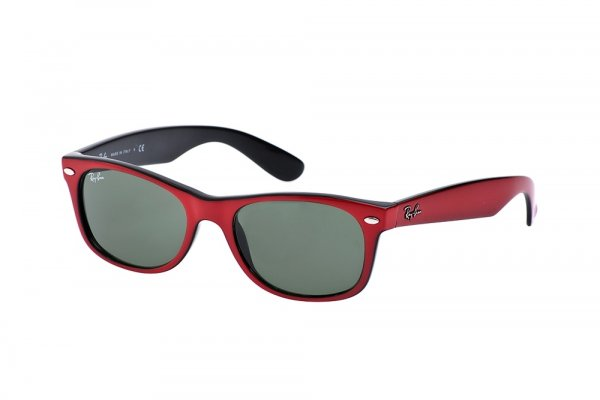 Очки Ray-Ban New Wayfarer Color Mix RB2132-769 Red on Black | Natural Green (G-15XLT)