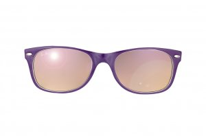 Очки Ray-Ban New Wayfarer Color Mix RB2132-790-70 Violet White/Violet Mirror Faded Brown