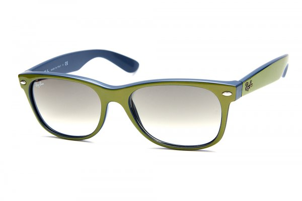 Очки Ray-Ban New Wayfarer Color Mix RB2132-791-32 Green On Blue/Gradient Grey