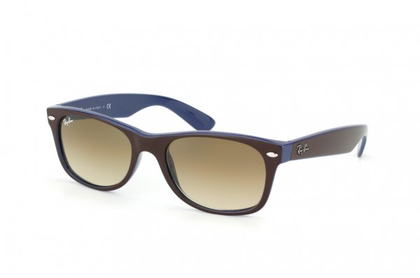 Очки Ray-Ban New Wayfarer Color Mix RB2132-874-51 Dark Brown/Blue | Faded Brown