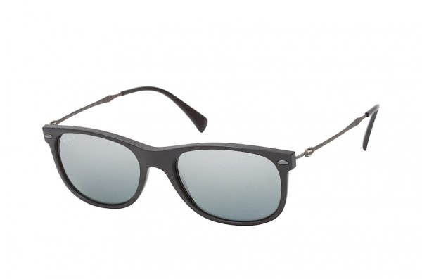 Очки Ray-Ban New Wayfarer LightRay RB4318-601S-82 Matt Black | Polarized Silver Mirror
