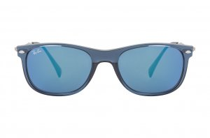 Очки Ray-Ban New Wayfarer LightRay RB4318-656-55 Blue | Blue Mirror