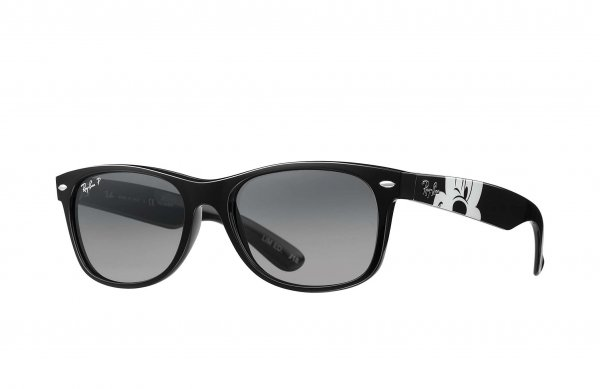 Очки Ray-Ban New Wayfarer Mickey Mouse Collection RB2132-6378-M3 Black / Mickey Mouse Print | Faded Grey Polarized