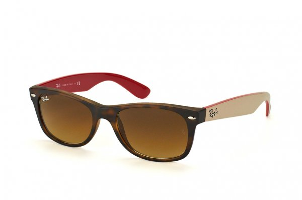 Очки Ray-Ban New Wayfarer RB2132-6181-85 Havana/Beige/Dark Red | Brown Gradient