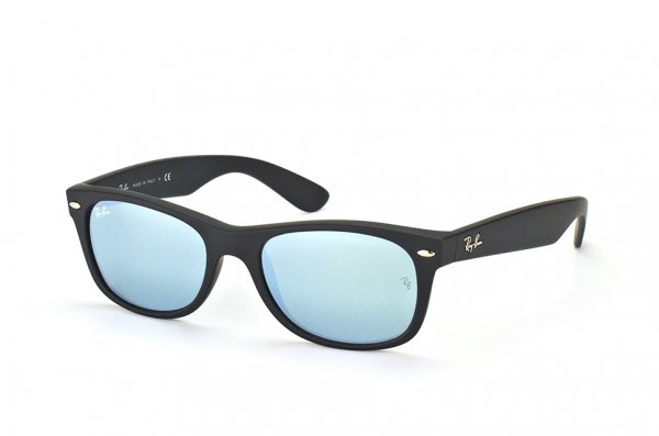 Очки Ray-Ban New Wayfarer RB2132-622-30 Black Rubber/ Grey Mirror