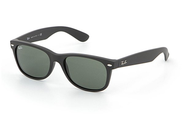 Очки Ray-Ban New Wayfarer RB2132-622 Black Rubber/Natural Green (G-15XLT)