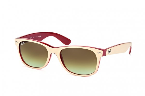 Очки Ray-Ban New Wayfarer RB2132-6307-A6 Biege / Pink | Faded Green