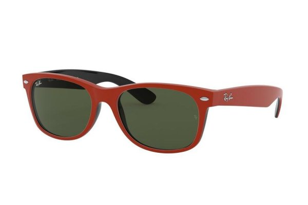 Очки Ray-Ban New Wayfarer RB2132-6466-31 Dark Red Rubber | Natural Green
