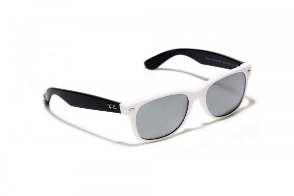 Очки Ray-Ban New Wayfarer RB2132-722-40 White /Black| Mirror (G-31)