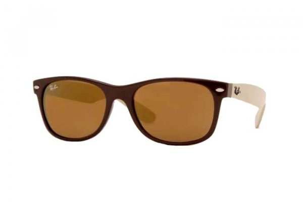 Очки Ray-Ban New Wayfarer RB2132-724-39 Brown/Beige | Brown/Grey