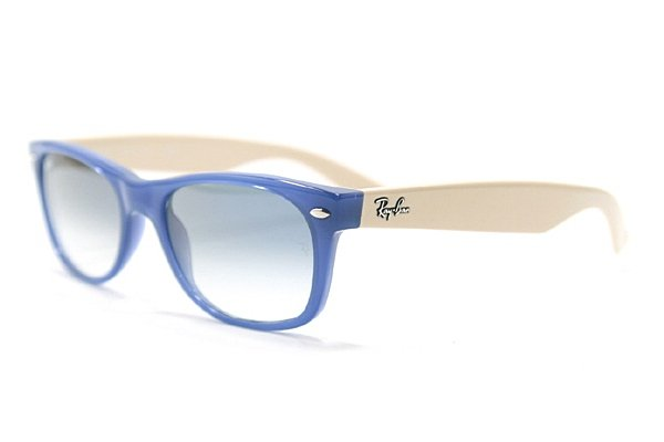 Очки Ray-Ban New Wayfarer RB2132-725-3F Blue / White | Gradient Blue