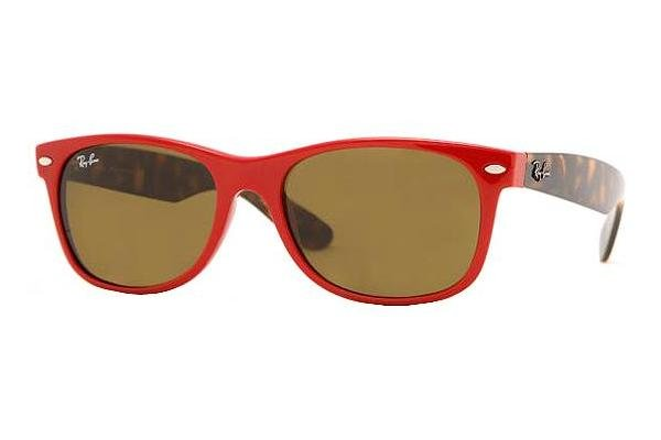 Очки Ray-Ban New Wayfarer RB2132-726 Red / Havana | Natural Brown (B-15 XLT)