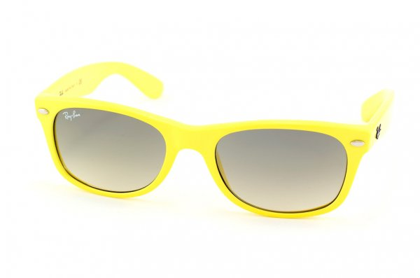 Очки Ray-Ban New Wayfarer RB2132-754-32 Fluorescent Yellow/Gradient Grey