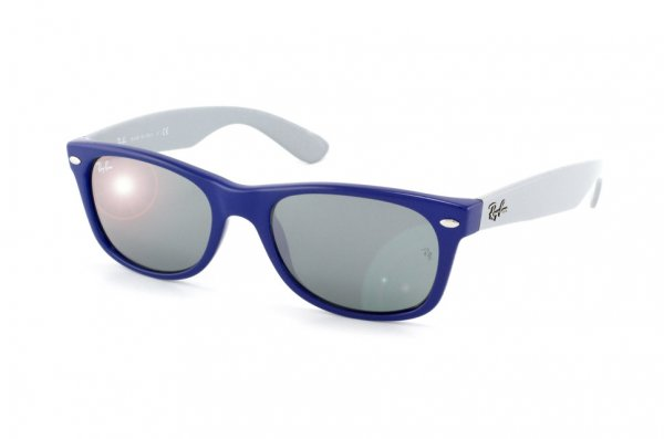 Очки Ray-Ban New Wayfarer RB2132-801-40 Dark Blue/Grey Temple