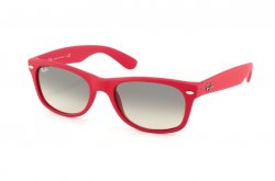 Очки Ray-Ban New Wayfarer RB2132-810-32 Pink-Red Rubber/Gradient Grey