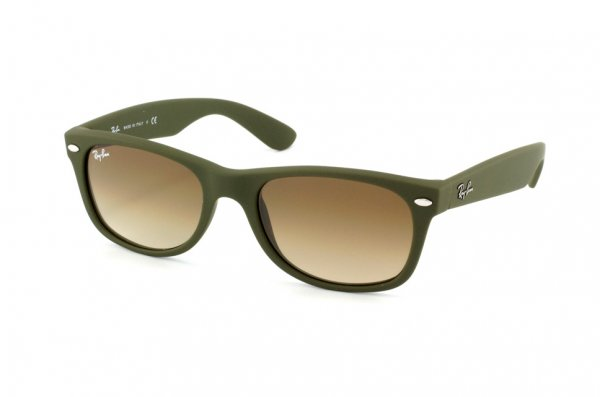 Очки Ray-Ban New Wayfarer RB2132-812-51 Military Green Rubber/Faded Brown/Gradient