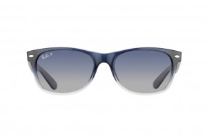 Очки Ray-Ban New Wayfarer RB2132-822-78 Blue Faded Transparent/Gradient Blue/Grey Polarized