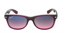Очки Ray-Ban New Wayfarer RB2132-843-77 Brown Gradient on Antique Pink | Blue Gradient Pink Polarized