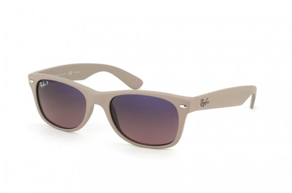 Очки Ray-Ban New Wayfarer RB2132-886-77 Matte Beige | Blue Gradient Pink Polarized