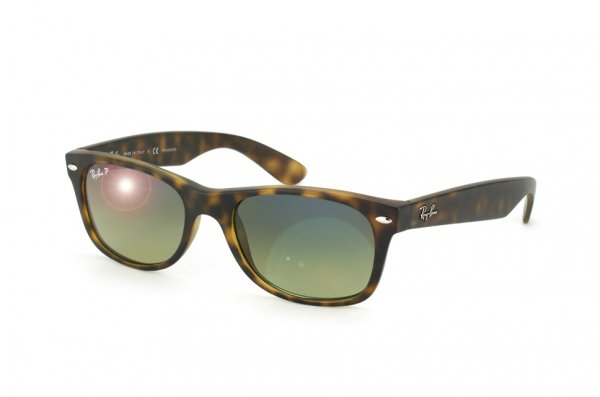Очки Ray-Ban New Wayfarer RB2132-894-76 Light Havana | Faded Green Polarized