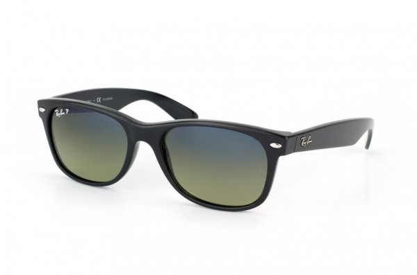 Очки Ray-Ban New Wayfarer RB2132-901-76 Black | Gradient Blue/Green Polarized