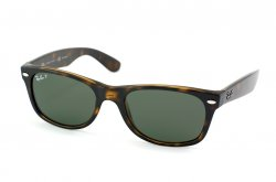 Очки Ray-Ban New Wayfarer RB2132-902-58 Dark Havana | Natural Green Polarized