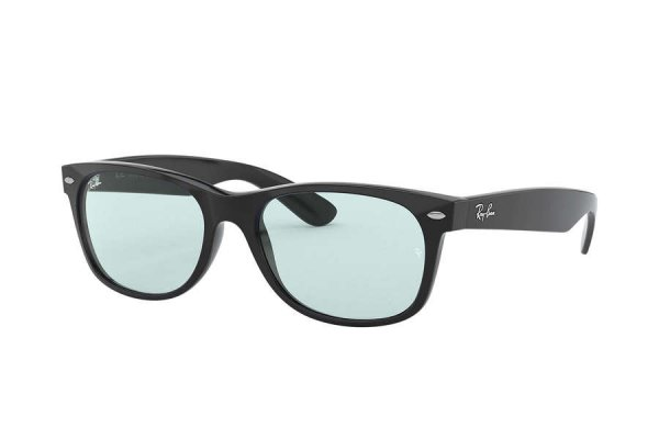 Очки Ray-Ban New Wayfarer RB2132F-601-64 Black | Light Blue