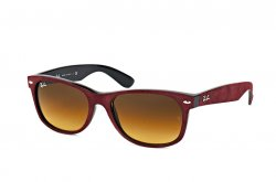 Очки Ray-Ban New Wayfarer Soft Touch RB2132-6240-85 Red Alcantara | Faded Brown