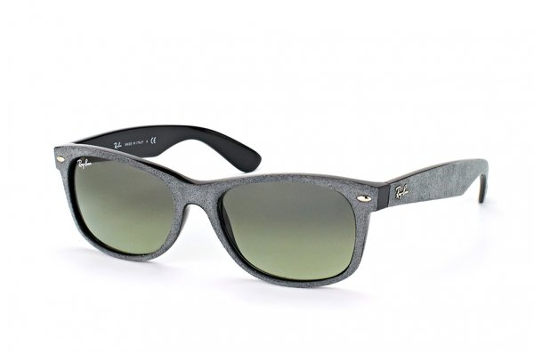 Очки Ray-Ban New Wayfarer Soft Touch RB2132-6241-71 Grey Alcantara | Grey/Green