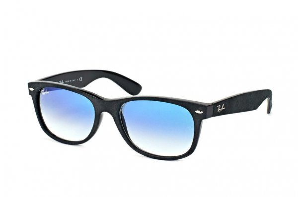 Очки Ray-Ban New Wayfarer Soft Touch RB2132-6242-3F Black Alcantara | Gradient Light Blue
