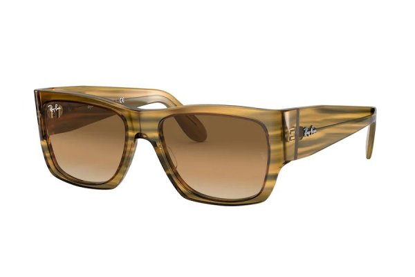 Очки Ray-Ban Nomad RB2187-1313-51 Striped Light Brown | Light Gradient Brown
