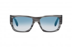 Очки Ray-Ban Nomad RB2187-1314-3F Striped Grey | Light Gradient Blue
