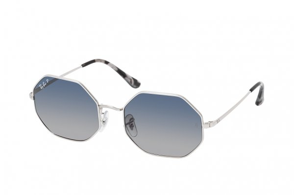 Очки Ray-Ban Octagon RB1972-9149-78 Silver | Blue Gradient Polarized