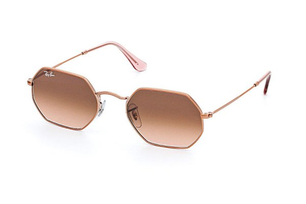 Очки Ray-Ban Octagonal Flat Lenses RB3556N-9069-A5 Bronze | Dark Brown Gradient