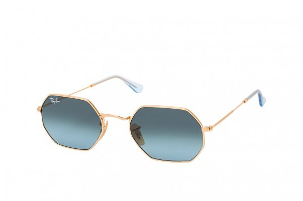 Очки Ray-Ban Octagonal Flat Lenses RB3556N-9123-3M Arista | Gradient Blue