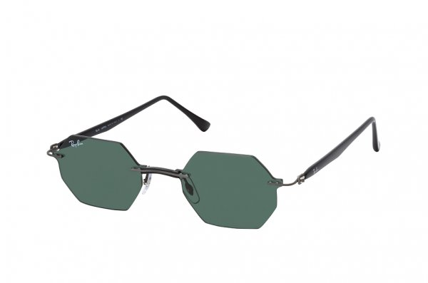 Очки Ray-Ban Octagonal LightRay RB8061-154-71 Gunmetal | Green