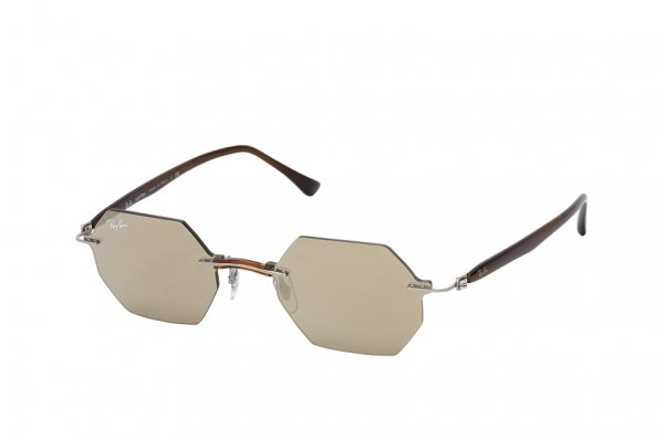 Очки Ray-Ban Octagonal LightRay RB8061-159-5A Brown | Light Brown Mirror