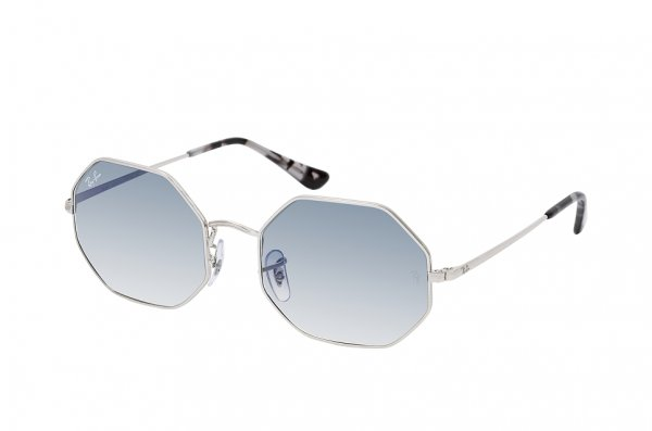 Очки Ray-Ban Octagonal RB1972-9149-3F Silver | Light Blue Gradient