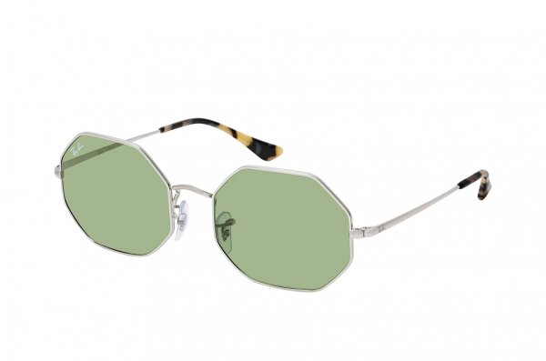 Очки Ray-Ban Octagonal RB1972-9197-4E Silver | Natural Light Green