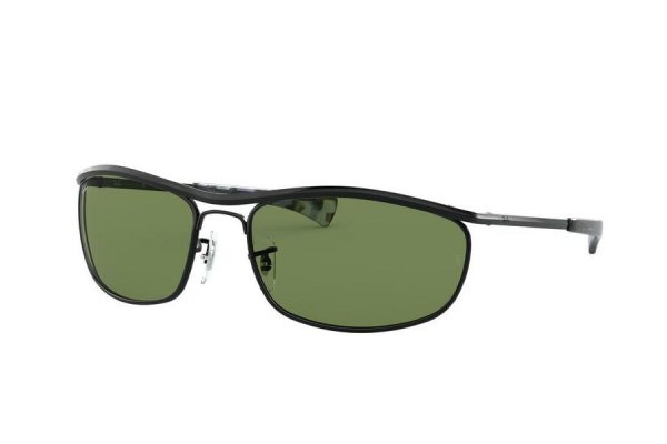 Очки Ray-Ban Olympian I Deluxe RB3119M-9182-14 Black | Natural Green